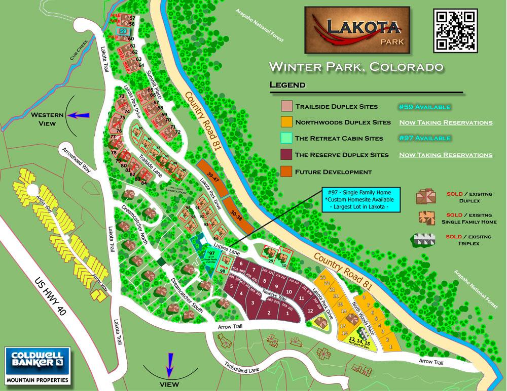 Site Map of Lakota at Winter Park