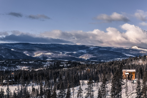 Winter Park Resort landscape view