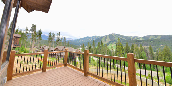 Mountain view from front deck of new Winter Park home for sale