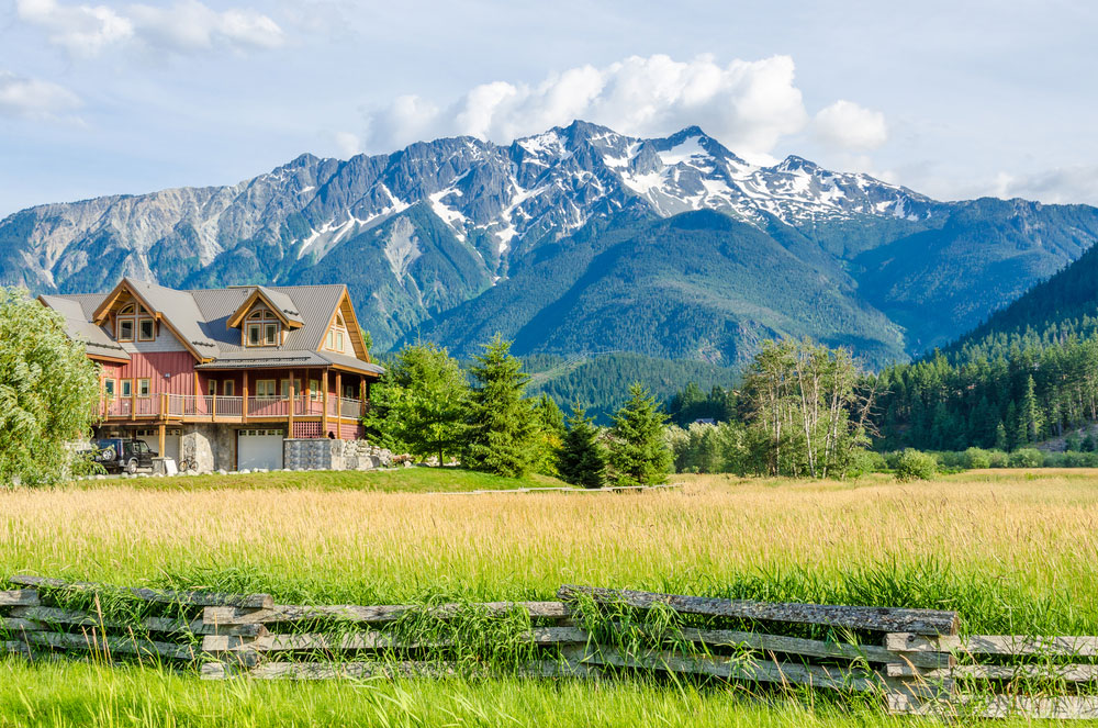 investment property cabin in the mountains