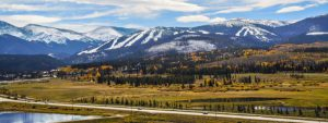 Beautiful landscape at Winter Park Resort, Grand County Colorado