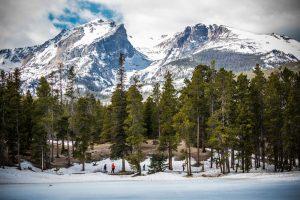 A winter scene in the Colorado mountains