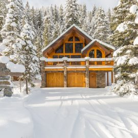 Luxury Mountain Home in the winter