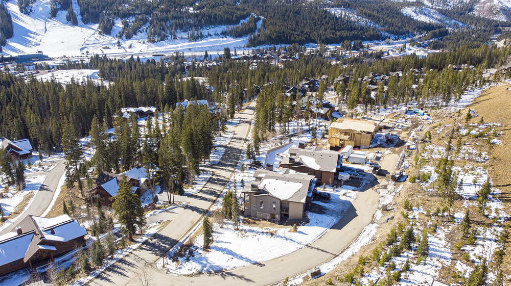 Drone image of new construction in Lakota Winter Park